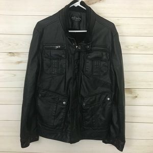 *3 for $25*Well Spring Faux leather men's Jacket